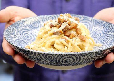 Recette : spaghetti carbonara de Solina Pasta Fresca