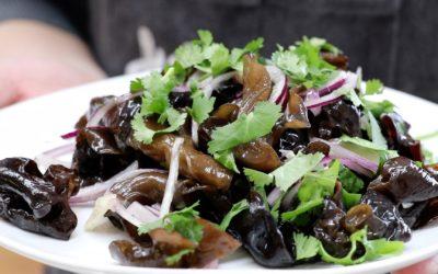 Salade de champignons noirs avec Mr Zhao