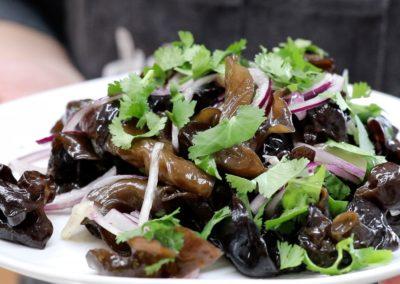 Recette : salade de champignons noirs avec Mr Zhao