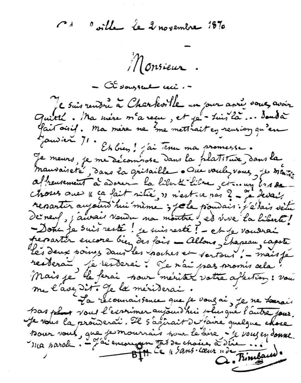 13 I Rimbaud I Des Lettres NON mais LDD