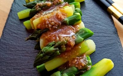 Asperge vertes au miso par Coin Op Table