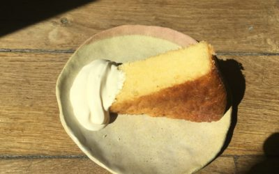 Torta al limone et crème crue par Solina