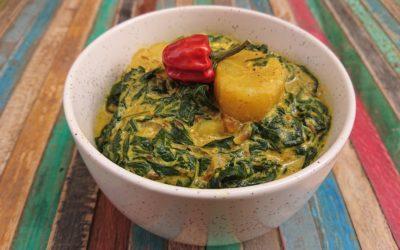 Curry aux épinards et pommes de terre par Doshas